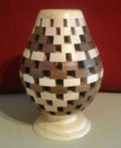 Open-Segmented Vase with Base